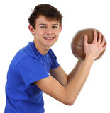 A guy with a training ball Royalty Free Stock Image