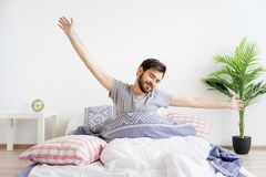 Guy is waking up Stock Images
