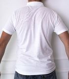 Guy in a white shirt. Fashion, dress. Man in a white t-shirt Stock Photos