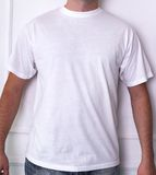 Guy in a white shirt. Fashion, dress. Man in a white t-shirt Stock Photo