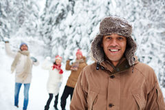 Guy in winterwear Royalty Free Stock Photo