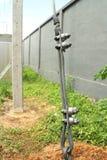 Guy Wire Fittings van Elektropool-Installatie Stock Foto