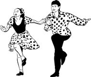 Guy With A Girl Dancing Rock And Roll Stock Photography
