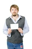 Guy With Sign Royalty Free Stock Images