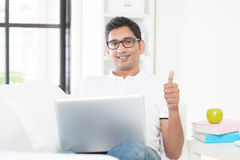 Guy working from home Stock Photography