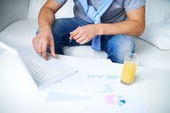 Guy working Stock Images