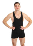 Guy in wrestling suit Royalty Free Stock Photos