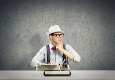 Guy writer Royalty Free Stock Photo