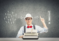 Guy writer Stock Images