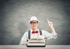 Guy writer Stock Image
