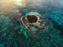 Guyam wyspa z góry - Filipiny obraz stock