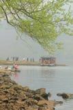 Guyan het Schilderen Gemeente in de lente Stock Fotografie