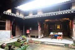 Guyan het Schilderen Gemeente in de lente, Oude Chinese architectuur Stock Afbeeldingen