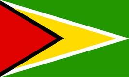 Guyana. National flag of guyana Stock Images