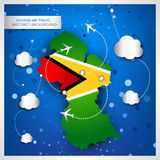 Guyana air travel abstract background Royalty Free Stock Photography