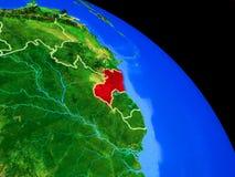 Guyana auf Planet Erde lizenzfreie abbildung