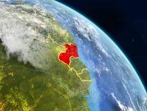 Guyana del espacio ilustración del vector