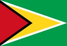 Guyana Flag Royalty Free Stock Photo