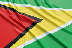 Guyana flag Stock Photography