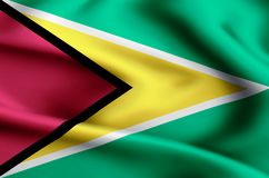 Guyana flaga ilustracja ilustracji