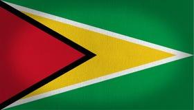 Guyana-Flagge Lizenzfreie Stockfotografie