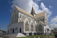Guyana, Georgetown: St. George's Cathedral. The Anglican St. George's Cathedral - now a National Monument -, was designed by Sir Arthur Blomfield. It was opened Royalty Free Stock Photos