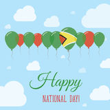 Guyana National Day Flat Patriotic Poster. Stock Photography