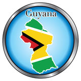 Guyana Round Button Royalty Free Stock Photo