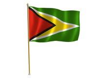 Guyana silk flag. Silk flag of Guyana Stock Photos