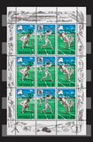 Guyana South America stamps. With cricket players Royalty Free Stock Image
