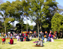 Guyi Garden lawn royalty free stock photo