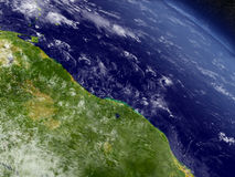 Guynea and Suriname  from space Stock Photos