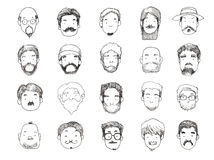 Guys with beard illustration Royalty Free Stock Photography