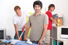 Guys cleaning Stock Image