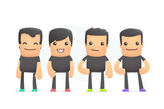 Guys in colored sneakers. Conceptual illustration Royalty Free Stock Image