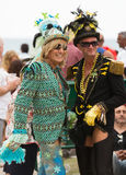 Guys in costumes at Gay pride parade in Sitges Stock Images