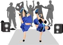 Guys dancers breakdance street Stock Photos