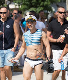 Guys during  Gay pride parade in Sitges Stock Photography
