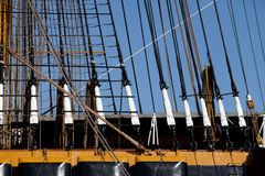 Guys on the sailing ship Stock Images