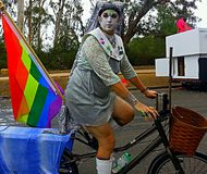 Guys, sex , trinsgender. Trinsgender girls during the LGBT pride Royalty Free Stock Image