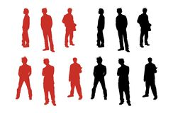 Guys Silhouette Royalty Free Stock Images