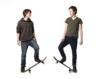 Guys with skatebords Stock Images