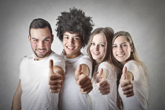 Guys with thumbs up Stock Photography