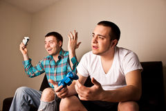 Guys Video Games Victory royalty free stock images