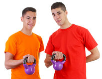 Guys with weights Stock Photography