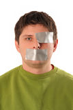 Guys With Tape Royalty Free Stock Photography