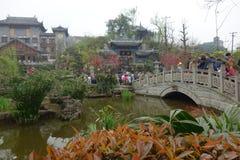 Guzhen miasteczko, Anju, Chongqing, Chiny Obrazy Stock