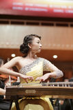 Guzheng actress zhanglei Royalty Free Stock Photo