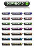 guzików ściągania searchfor upload strona internetowa Fotografia Stock
