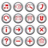 guzików czerwony symboli/lów wektor Zdjęcia Royalty Free